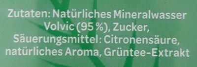 Volvic Grüntee & Minze - Ingrediënten