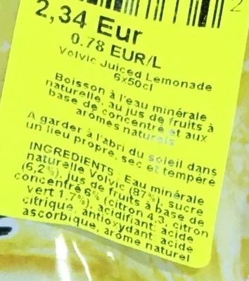 Juiced Lemonade - Ingrédients - fr
