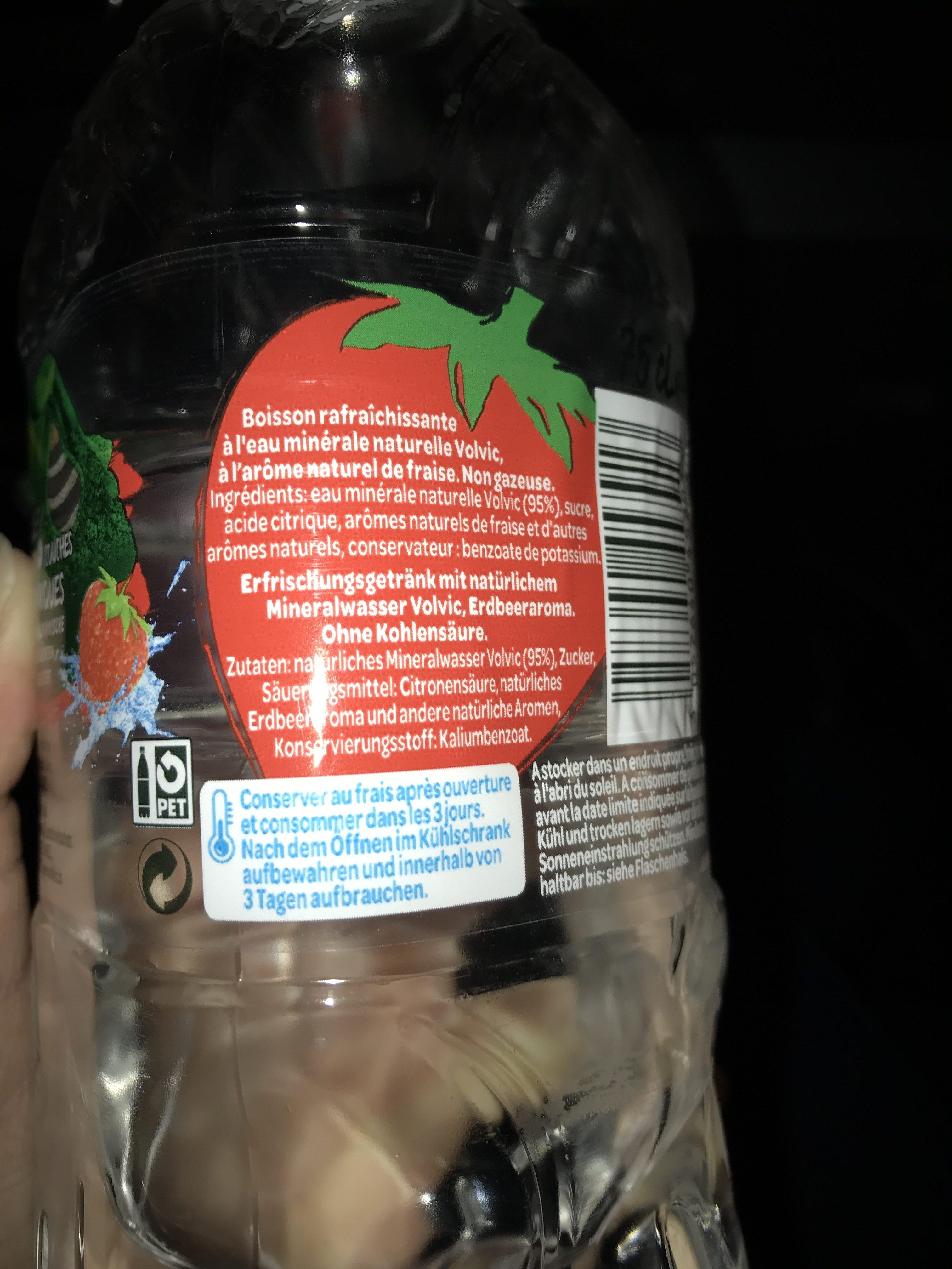 Volvic fraise - Ingredients