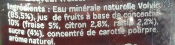 Juicy Fraise - Ingrediënten - fr