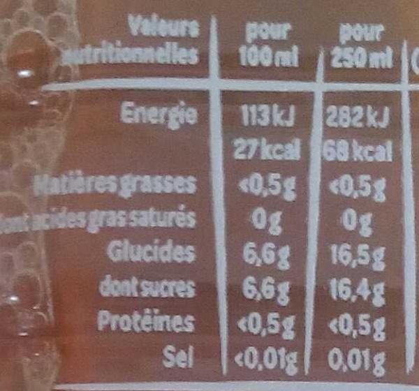 Juicy Fraise - Voedingswaarden - fr