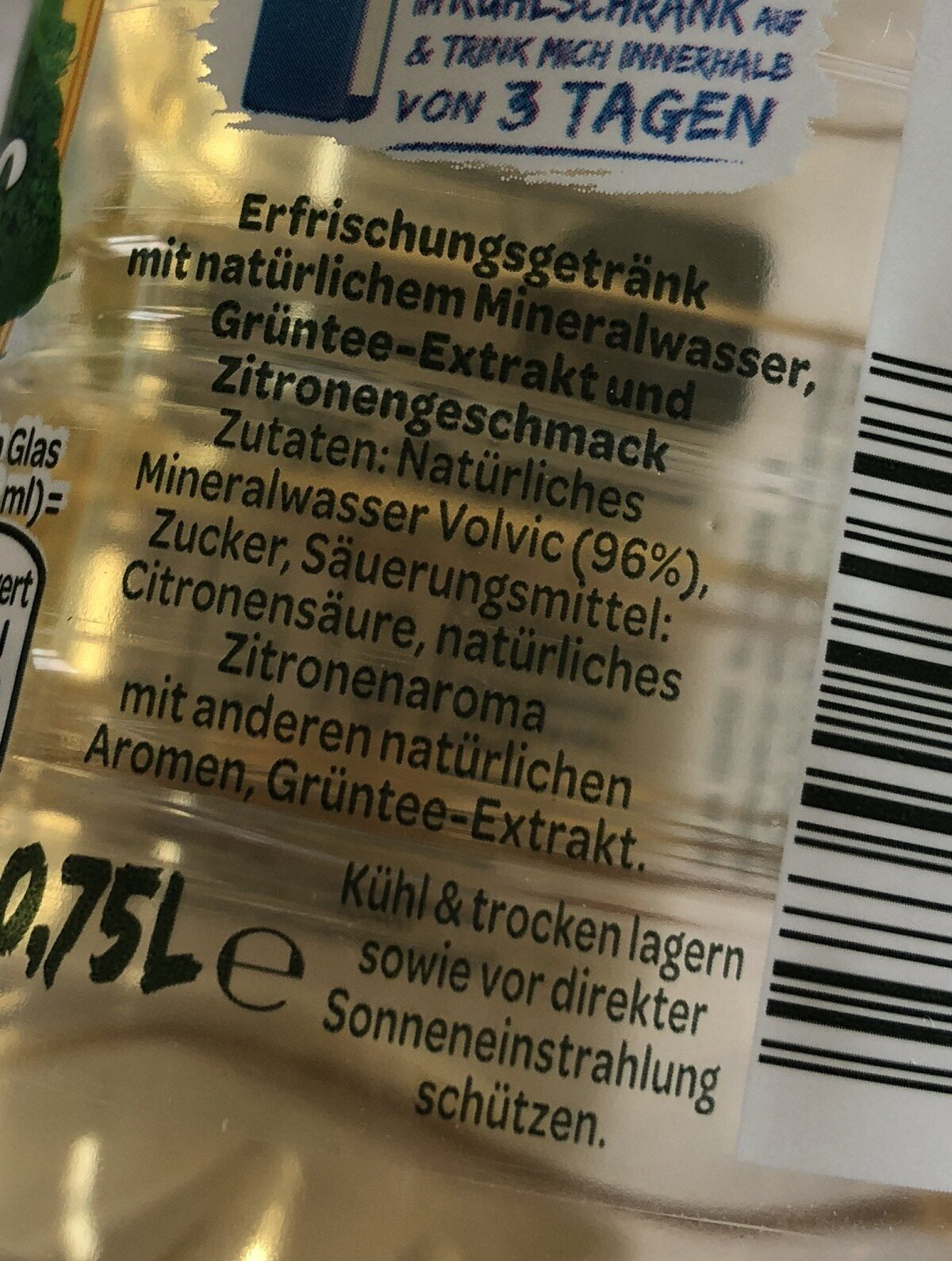 Tee Zitrone - Ingredients - fr
