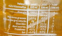 Volvic Juicy Fruits Exotiques - Informations nutritionnelles - fr