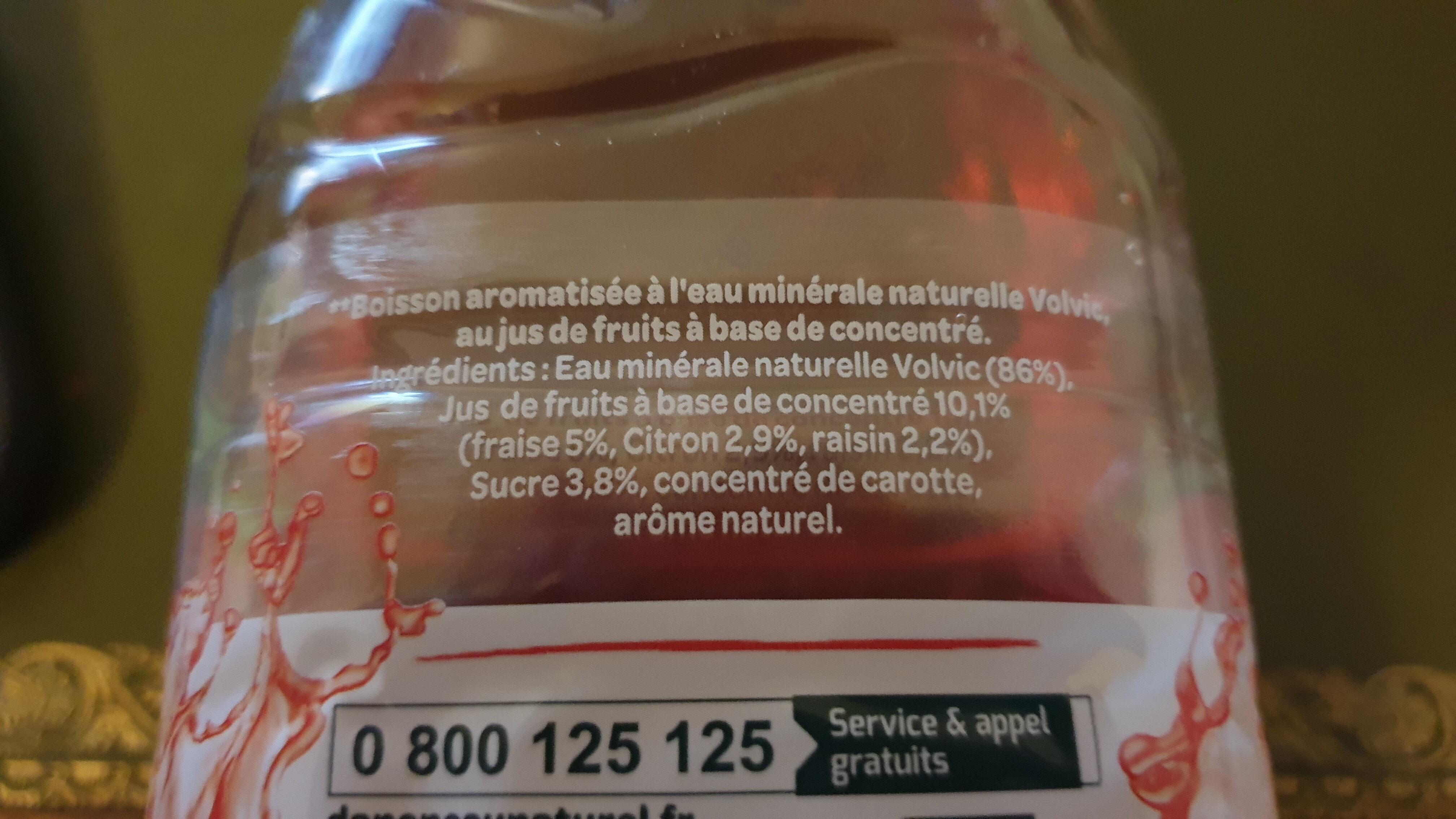 Volvic Juicy fraise - Ingrédients