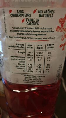 Volvic Juicy fraise - Informations nutritionnelles