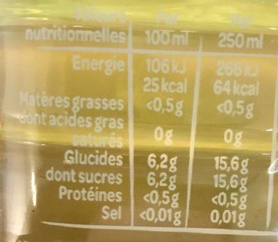 Juicy Fruits Exotiques - Informations nutritionnelles - fr