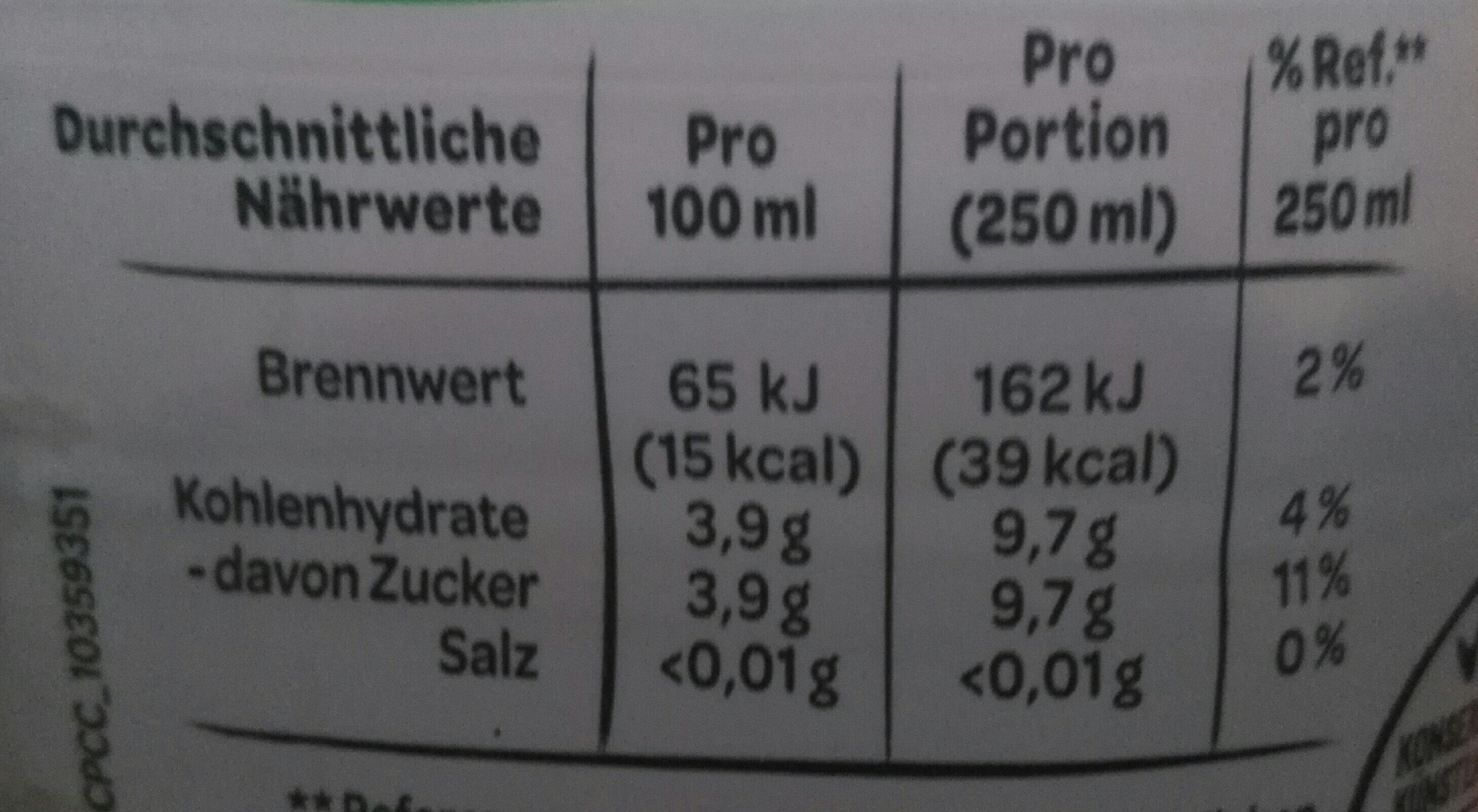 Volvic Tee - Nutrition facts