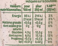 Volvic juicy fruit d'été - Informations nutritionnelles - fr