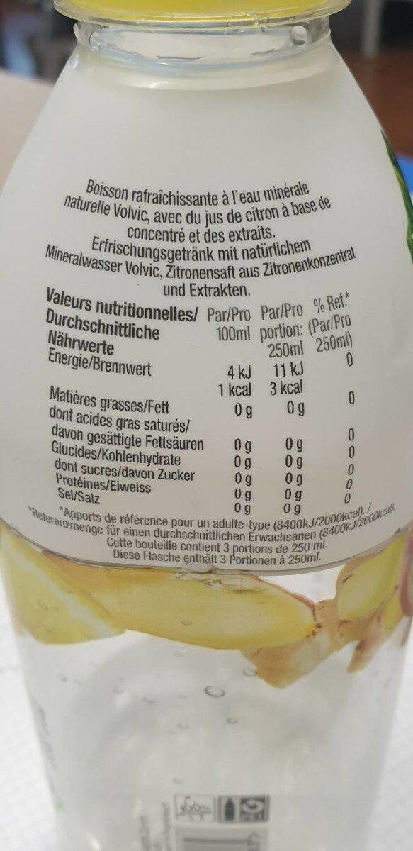 Citron-pomme - Nutrition facts - fr