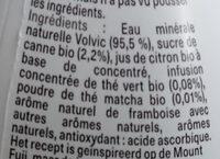 Voici infusion bio  matcha thé vert - Ingredients - fr