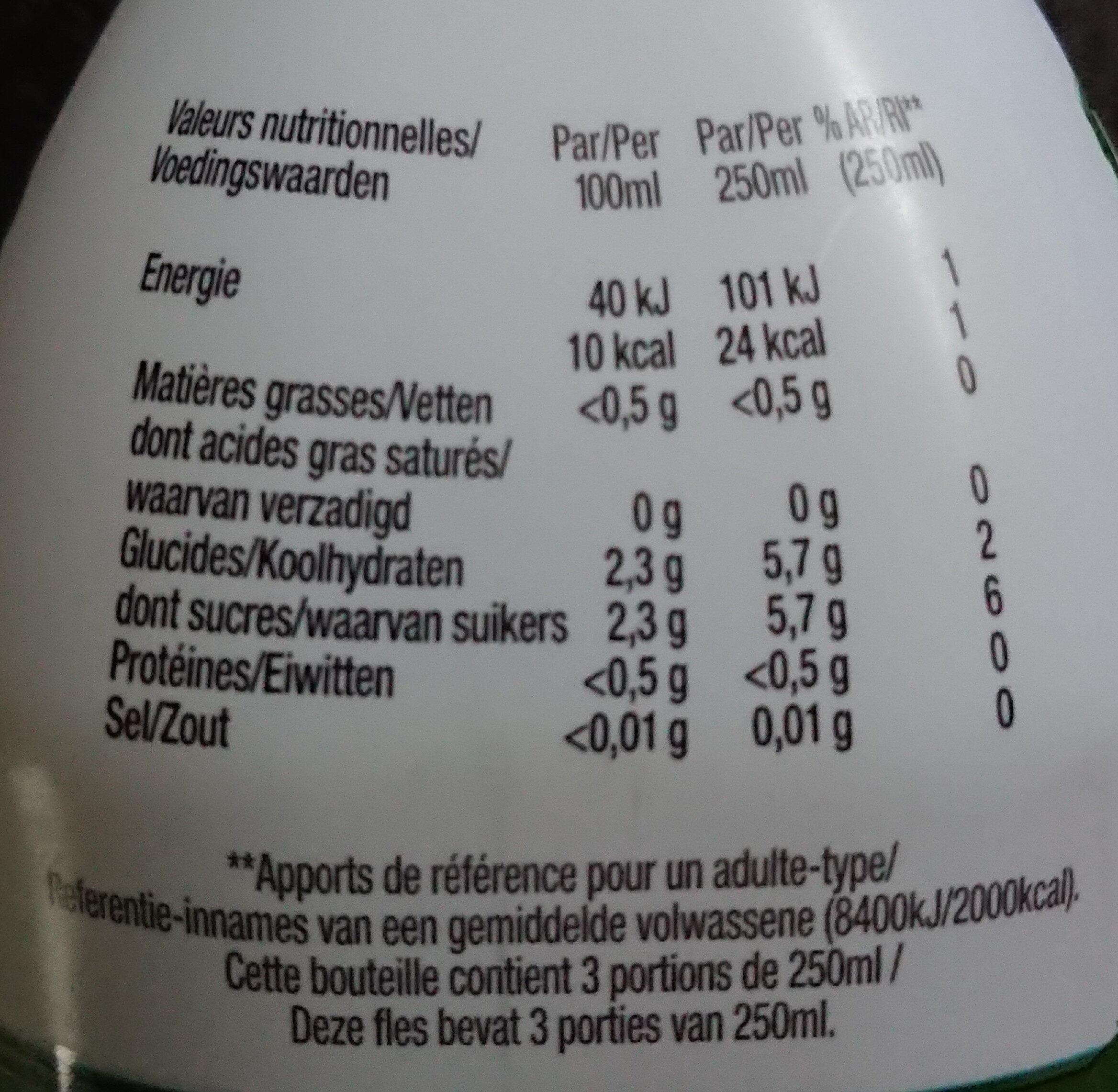 Voici infusion bio  matcha thé vert - Nutrition facts - fr