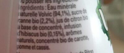 Volvic infusion - Hibiscus - Ingrediënten