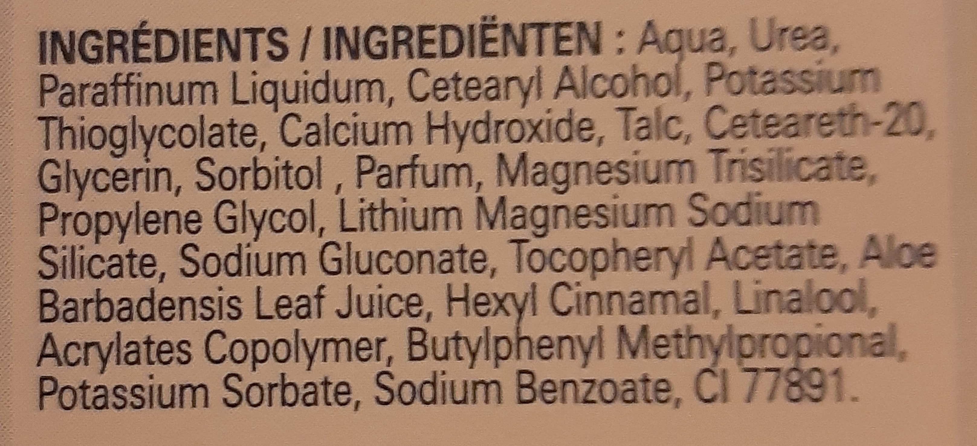 Veet Crème Dépilatoire Silk & Fresh - Ingrédients