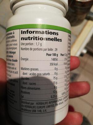 boisson instantanée tea - Informations nutritionnelles - fr