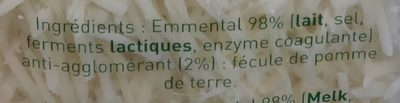 Emmental Râpé - Ingredienti - fr