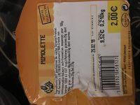 Mimolette Jeune 23% de matieres grasses - Ingredients