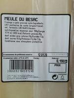 Meule du besac - Ingredienti - fr