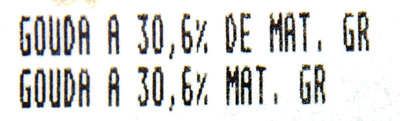 Gouda (30,6 % MG) - Informations nutritionnelles - fr