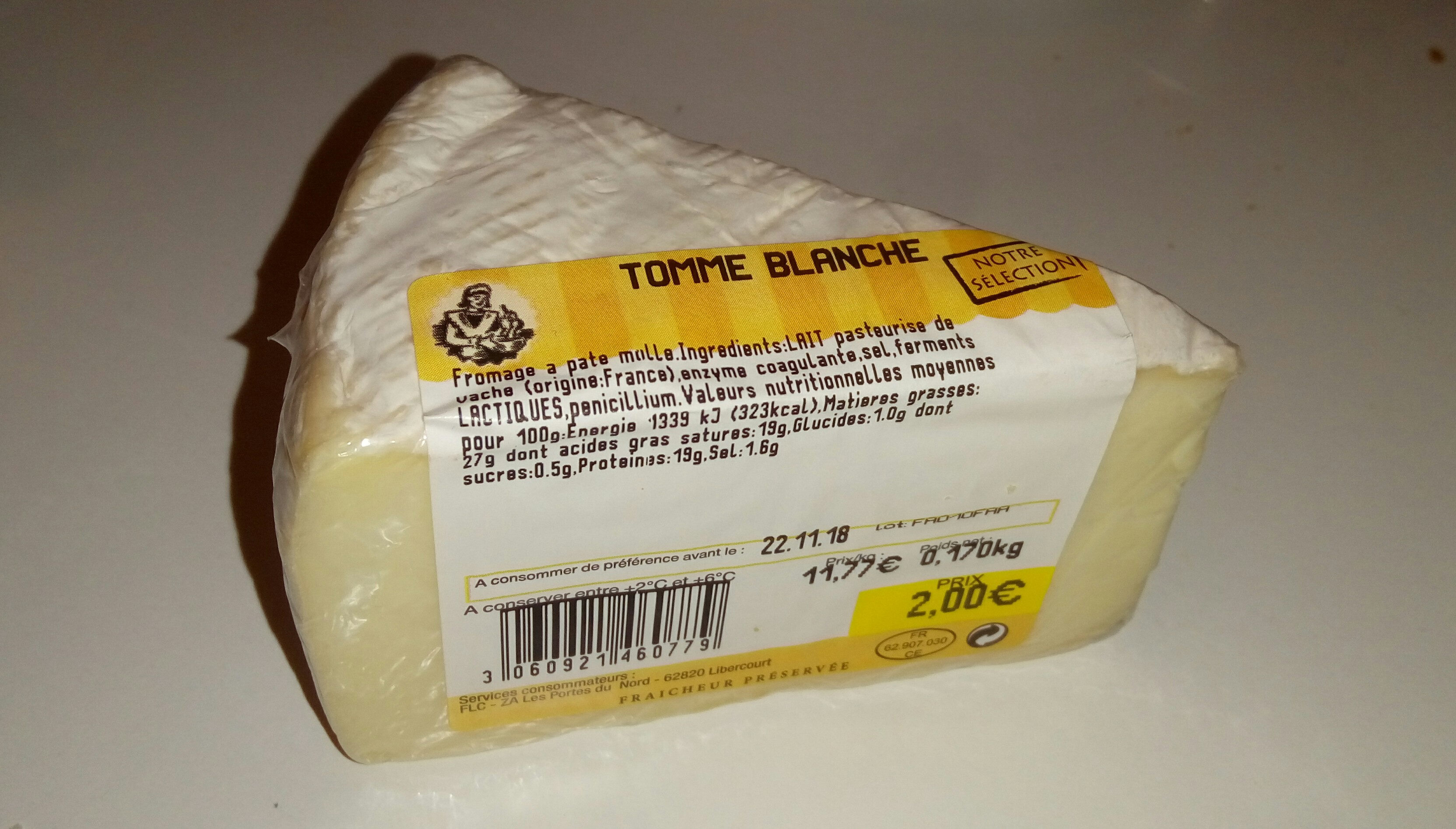 Tomme blanche 2 euros - Produit - fr