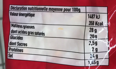 Râpé 3 Fromages (Emmental, Mimolette, Chèvre) - Nutrition facts