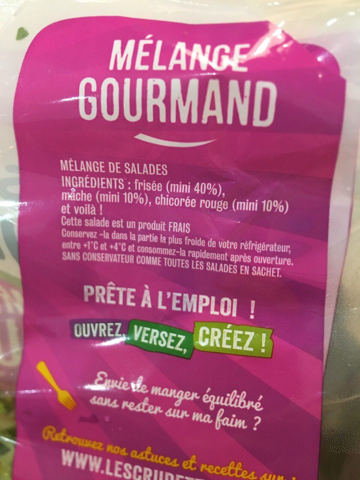 Les Crudettes - Mélange gourmand - Ingrediënten