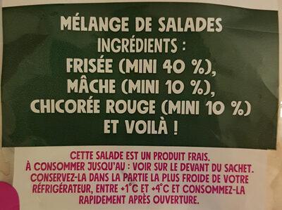 Les Crudettes - Mélange gourmand - Ingredients - fr