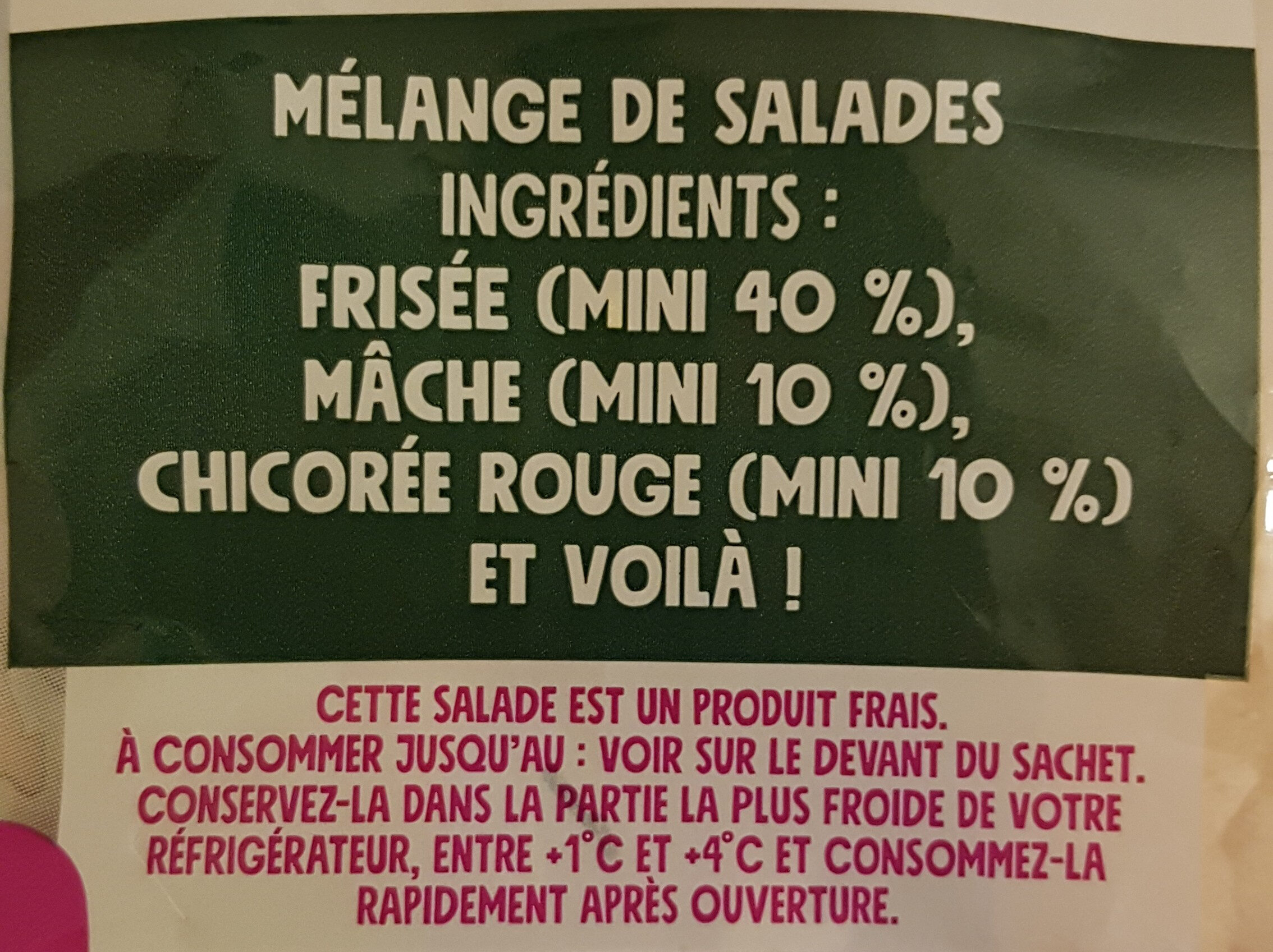 Mélange gourmand - Ingredients