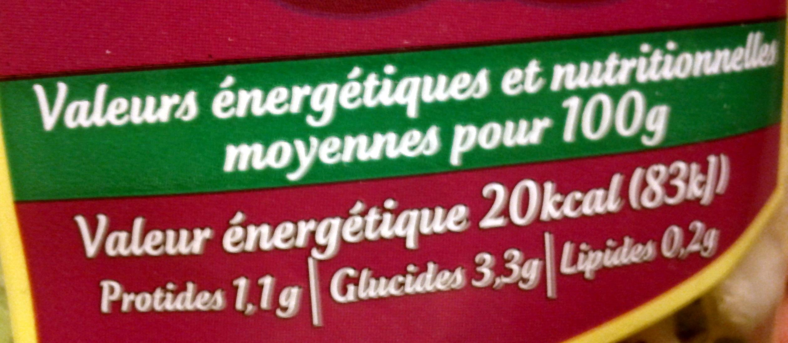 Les Crudettes - Mélange gourmand - Voedigswaarden