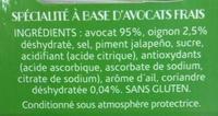 Guacamole Doux - Ingredients