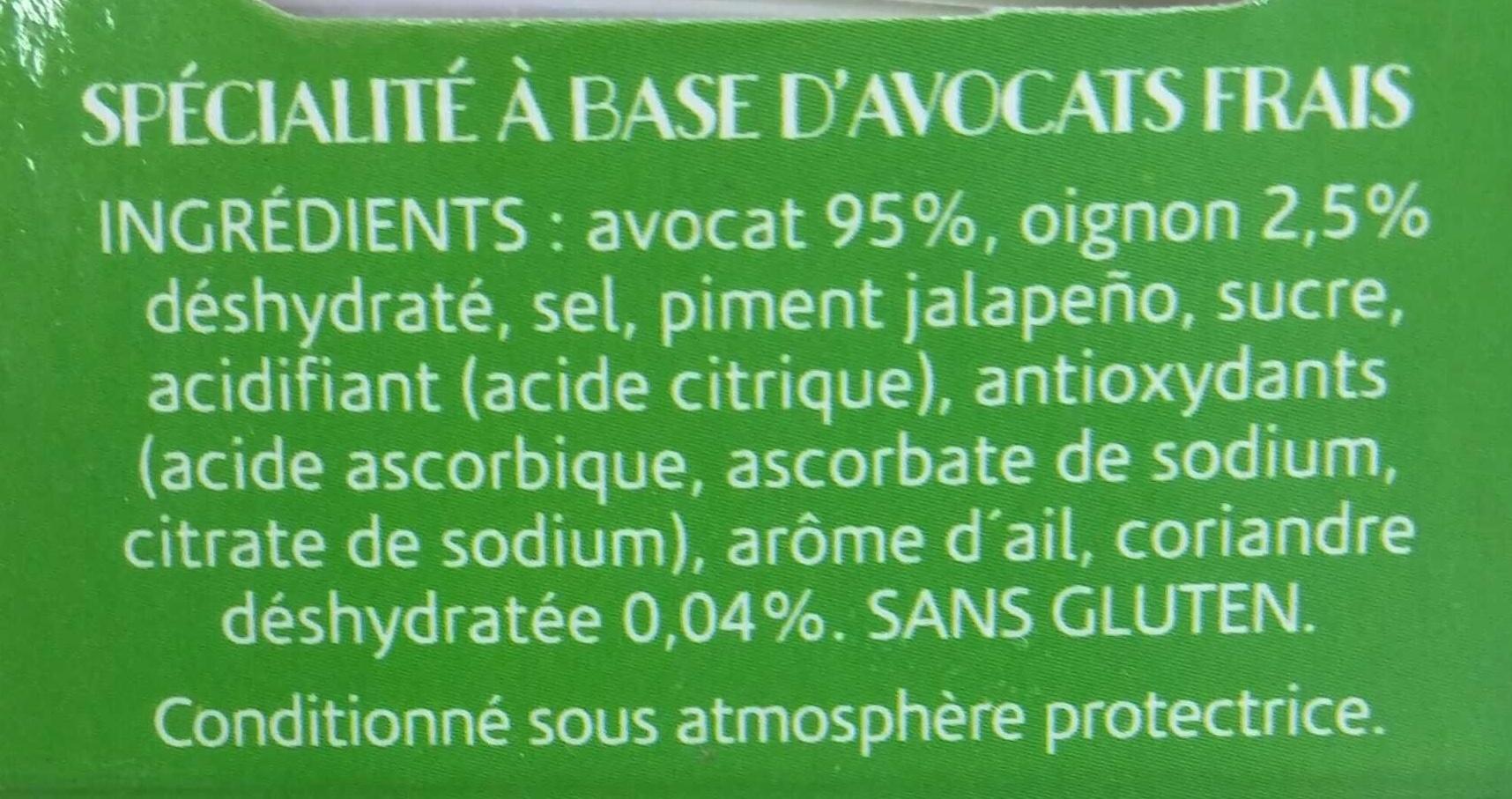Guacamole Doux - Ingrediënten - fr