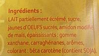 Crème anglaise stérilisée - Ingrediënten - fr