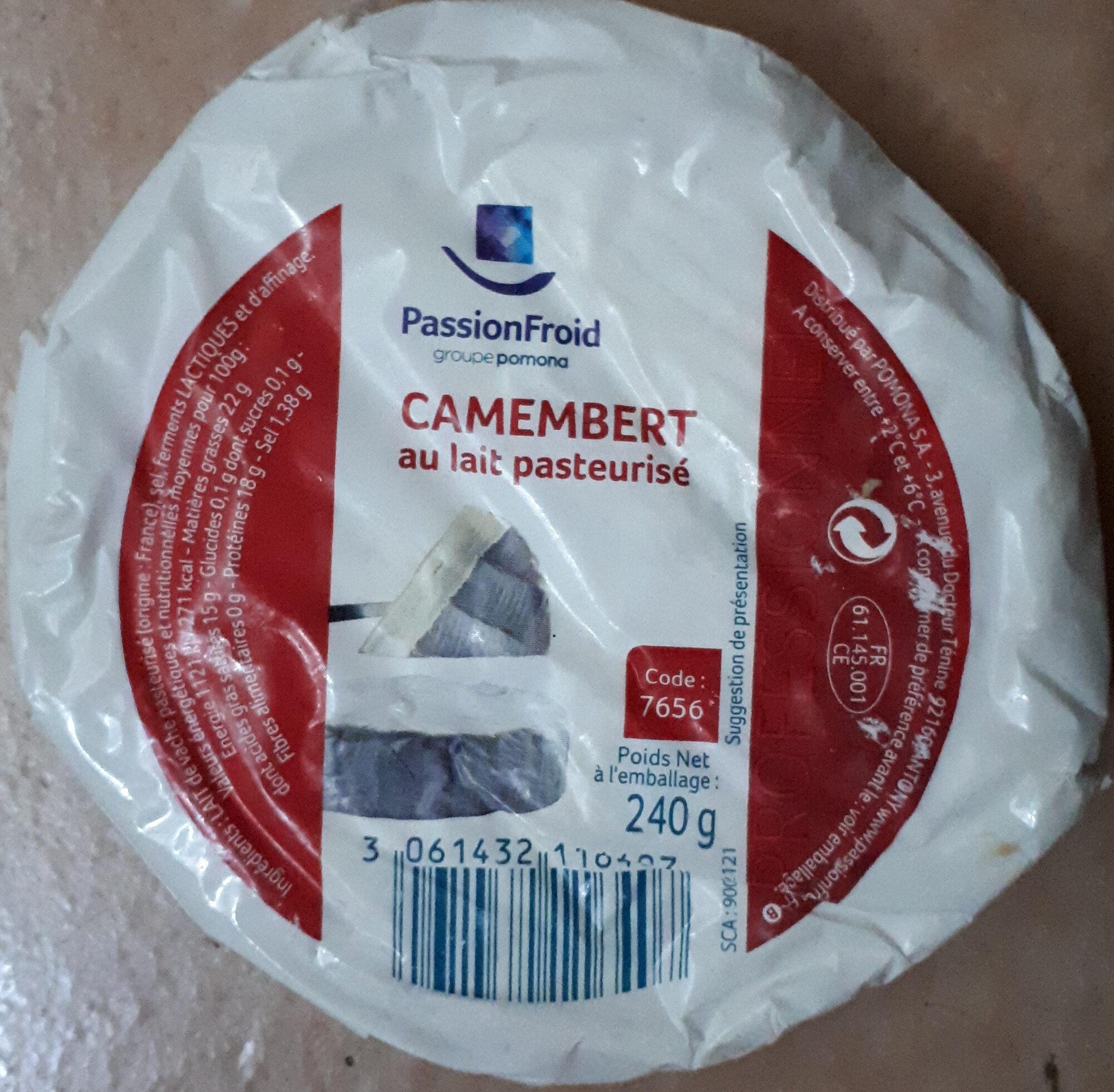 Camembert au lait pasteurisé - Produit - fr