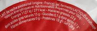Camembert au lait pasteurisé - Ingrédients - fr