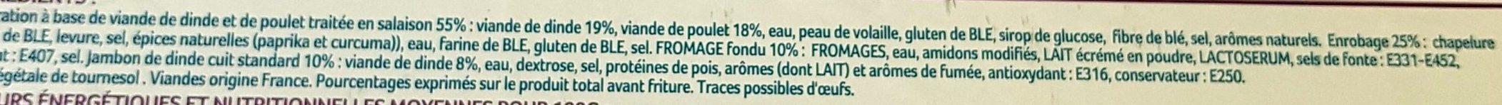 Cordons Bleu de Dinde - Ingrédients - fr