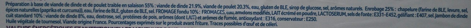 Cordons Bleus de Dinde - Ingrediënten