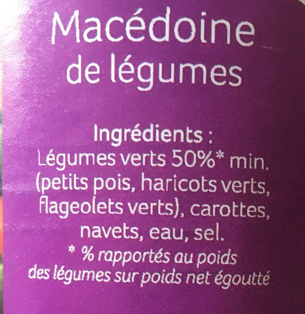 Macedoine de legumes - Ingrédients - fr
