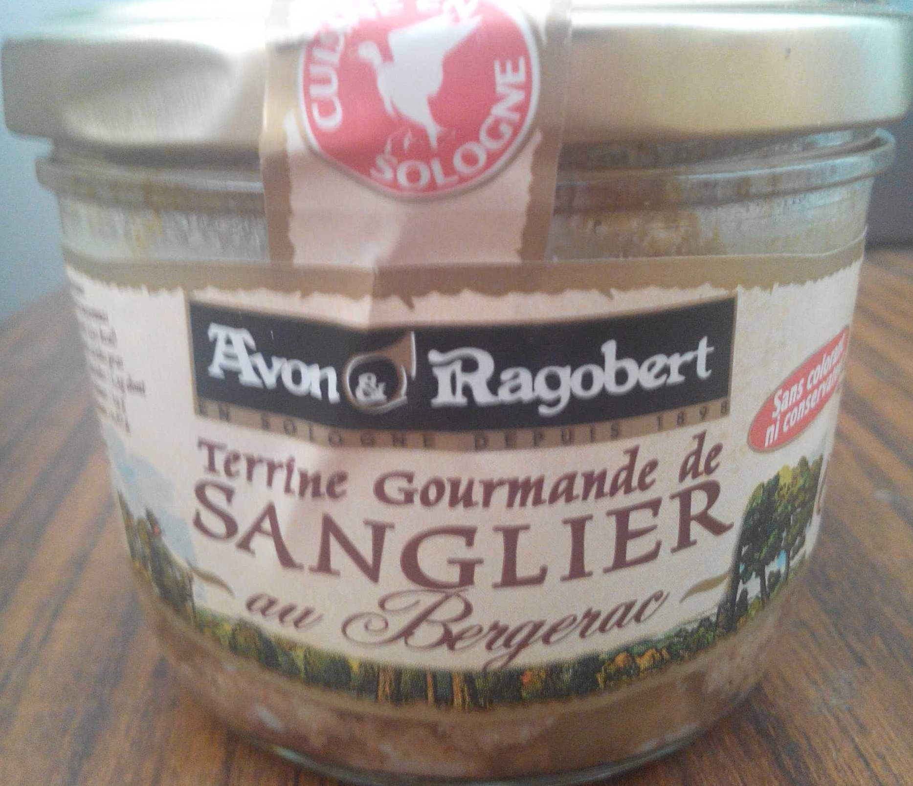 Terrine gourmande de sanglier au Bergerac - Produit