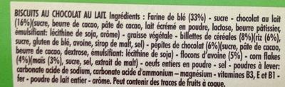 P'tit Déj céréaes et pépites de chocolat - Ingrédients