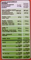 P'tit Déj céréaes et pépites de chocolat - Informations nutritionnelles