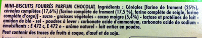 Mini BN Goût Chocolat - Ingredients