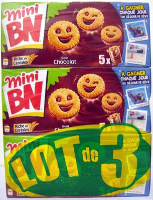 Mini BN Goût Chocolat (lot de 3) - Produit - fr