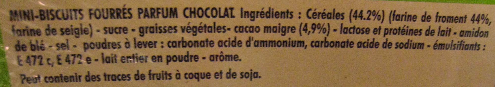 Mini BN Goût Chocolat (lot de 3) - Ingrédients - fr