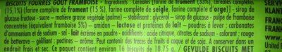 BN à la pulpe de framboise - Ingrediënten