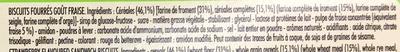 Xtra Drôle - Biscuits fourrés goût fraise - Ingredients - fr