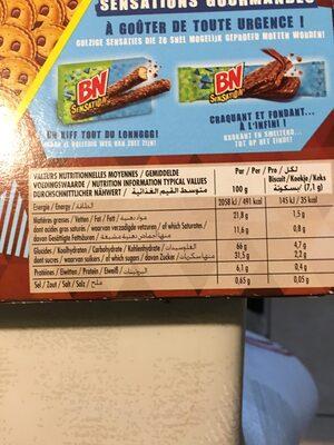 Mini BN - Voedingswaarden