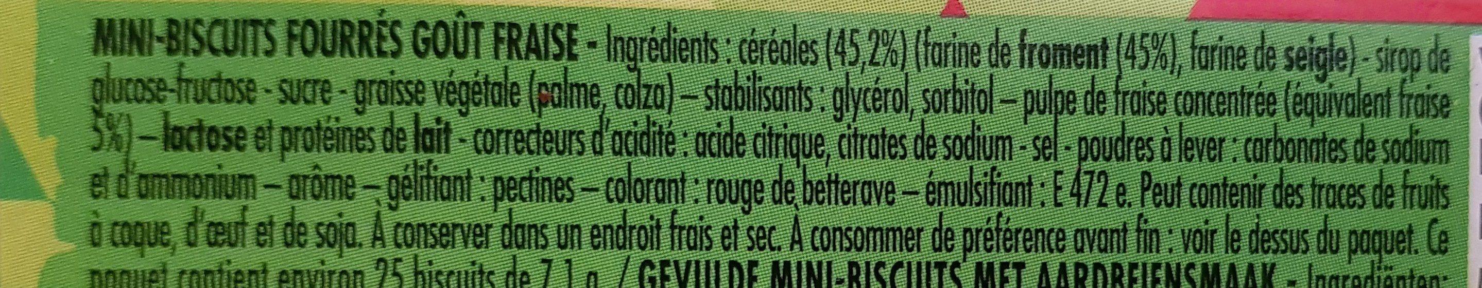 MINI BISCUITS A LA FRAISE - Ingredienti - fr
