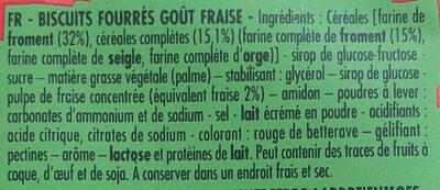 BN FRAISE 295 G - Ingredienti - fr