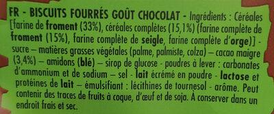 BN goût chocolat - Ingrédients