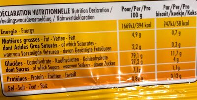 Casse-croûte original - Nutrition facts - fr