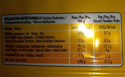 Casse-croûte original - Información nutricional - fr
